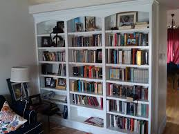 white built in bookshelves american hwy