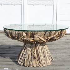 Driftwood Decor Diy Driftwood Decor Round Dining Table Glass Top