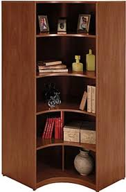 Bush Bookcases Bush Wl24407 Universal Wall Systems Hansen Cherry Corner Bookcase