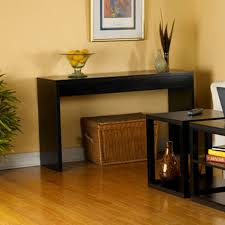 Living Room Console Tables Contemporary Black Wood Grain Sofa Table Living Room Console Table