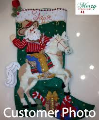 cowboy santa bucilla kit photo personalized
