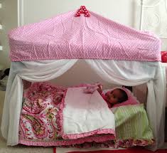 girls toddler bed with canopy repurpose of pack n play to a reading and napping tent pack n
