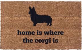 Funny Doormat by Vinyl Back Doormat Corgi Home Coir Doormat Funny Doormat