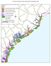 Charleston County Zoning Map Sea Level Rise Planning Maps Likelihood Of Shore Protection In