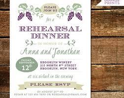bridal dinner invitations vineyard invitations etsy