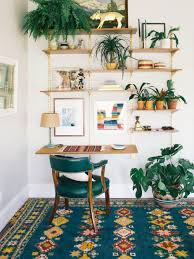 How To Decorate With Rugs 15 Gorgeous Ways To Decorate With Plants Mid Century Desk Desks