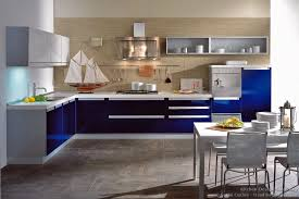 Blue And White Kitchen Kitchen Of The Day A Contemporary Kitchen With Navy Blue Cabinets