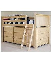 holiday shopping special loft bed with dressers natural finish