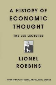 a history of economic thought lionel robbins steven g medema