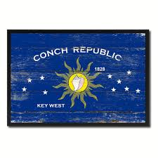 Floridas State Flag Conch Republic Key West City Florida State Vintage Flag Home Decor