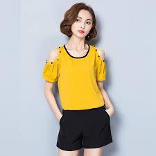 open shoulder blouse 2017 summer open shoulder blouse shirts plus size top