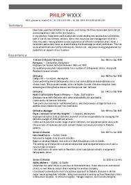 Sample Ot Resume by Physiotherapist Cv Template 1 Cv Resume Samples Full Size Of