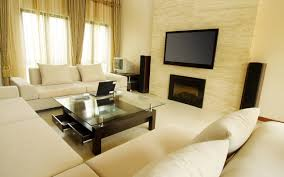 living room setup ideas led tv green wall white curtain plant in
