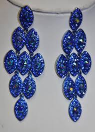 blue chandelier earrings 36 blue earrings lake blue shamballa stud