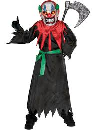 scary kids halloween costumes child scary clown fancy dress costume halloween circus evil mask