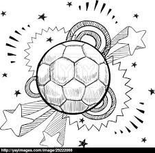 soccer ball sketch vector yayimages com