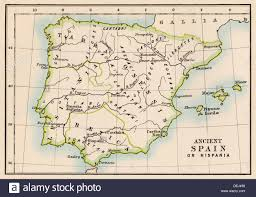 Nova Map Map Of Hispania Or The Iberian Peninsula In Ancient Times Stock