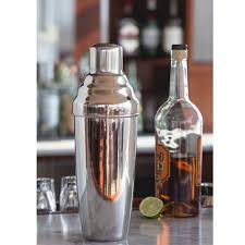 martini shaker shaking behind the bar giant 3 piece stainless steel cocktail shaker 60 oz