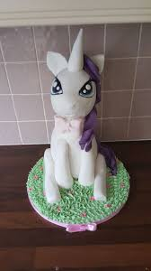 Rarity My little pony birthday cake All edible pony