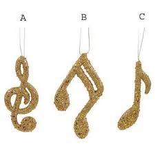 gold glitter note ornaments polyvore