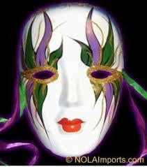 mardi gras ceramic masks fuchsia feathered mini ceramic mask mardi gras favor venetian