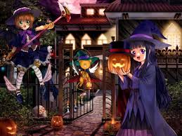 halloween anime background anime girls halloween card captor sakura wallpapers hd desktop