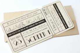 ticket wedding invitations ticket wedding invitations cinema ticket wedding invitation with