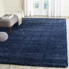 Safavieh Rug by Safavieh California Cozy Solid Navy Blue Shag Rug 11 U0027 X 15