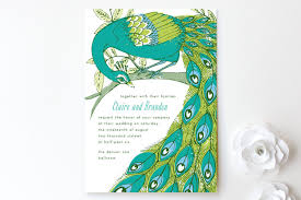 peacock invitations peacock print it yourself wedding invitations by