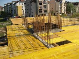 preparation for concrete slab of the second floor
