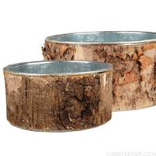 Birch Bark Vases Round Birch Bark Planter Set Of 3 Sizes Vase Market