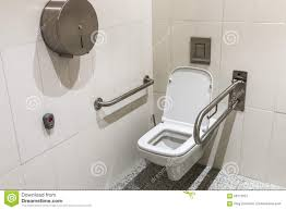 Disabled Handrails Toilet With Handrails For The Disabled Stock Photo Image 52627807