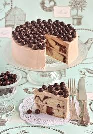 this mocha marble cake with chocolate covered coffee beans is