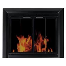 pleasant hearth clairmont fireplace screen and bi fold track free