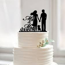 cake topper with dog wedding cake topper with dog mr mrs last name cake by muggses
