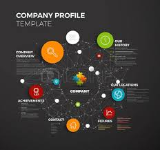 company infographic profile design template with modern hipster