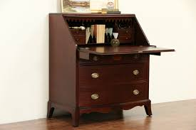 sold revell chicago signed 1940 vintage hepplewhite secretary