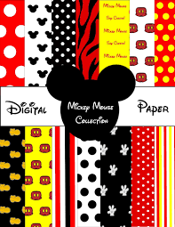mickey mouse wrapping paper printable mickey mouse digital paper by sosweetcandybuffets 3 25