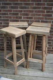 Rustic Bar Stools Cheap These Simple Wood Stools Are So Beautiful Solid Wood Too Amazing
