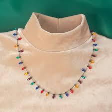 christmas light necklace christmas light bulb necklace holidays kimball