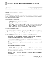 Accountant Job Resume by Accountant Job Description For Resume Resume Examples 2017