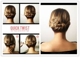 directions for easy updos for medium hair how to make cute diy updo hairstyle for short to medium hair diy tag