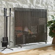 Fireplace Cover Up Best Modern U0026 Contemporary Fireplace Screens 2017 Annual Guide