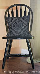 How To Paint Furniture Black by Happy House And Home How To Paint Kitchen Chairs