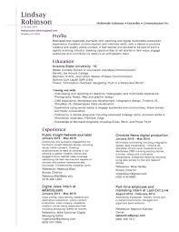 resume lindsay robinson