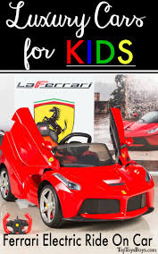 ferrari electric car ferrari electric ride on car luxury cars for kids