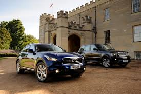 infiniti fx vs lexus infiniti fx vs range rover sport group tests auto express