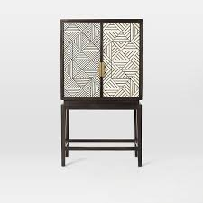 Gray Bar Cabinet Bone Inlaid Bar Cabinet West Elm