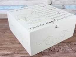 Wedding Wishing Box Large Angel Memorial Wishing Box Keepsakes Shabby Chic Memory Box
