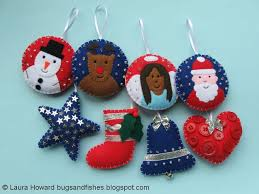 sew lots of felt ornaments for your tree with this